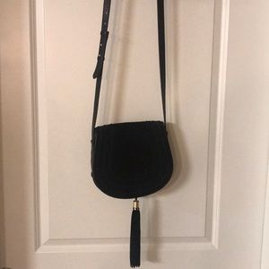 Vince Camuto Suede and Leather Saddle Purse